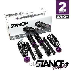 Stance+ Street Coilovers Suspension Kit Fiat Panda Mk3 0.9 1.2 1.3 1.4 (2012-)